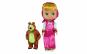 Papusa Masha cu Ursulet, rochie roz