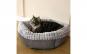 Culcus pufos pentru pisici, 49 x 45 x 14 cm, gri, Vivo