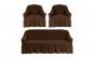 Set huse elastice pentru canapele 3 locuri si 2 fotolii, maro