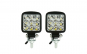 Set 2 proiectoare led Mini, Off Road, 2 functii, lumina continua si functie flash, 27W, 9 LED
