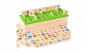 Cutie asociere si sortare, joc Montessori, 88 piese lemn, +3 ani