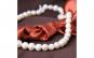 Colier perle naturale de cultura albe,