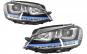 Set 2 faruri 3D LED compatibil cu VW Golf 7 VII (2012-2017) GTE Design Semnal LED