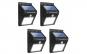 Set 4 lampi solare cu senzor de miscare