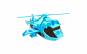 Elicopter Albastru Transformers 22 cm, cu lumini si sunete