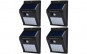 Set 4 lampi solare de perete cu senzor de miscare si lumina cu 30 leduri