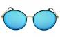Ochelari de soare Rotunzi Bleu - Auriu