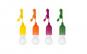 Set 4 becuri LED portabile cu snur colorat