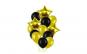 Set de 12 baloane pentru petrecere, negru/Auriu