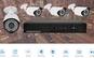 Sistem de supraveghere FULL HD 2 MPx kit DVR 4 camere exterior/interior, pachet complet, HDMI, internet, vizionare pe smartphone