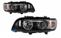 Set 2 faruri Angel Eyes, compatibil cu BMW X5 E53 (1999-2003) Black Edition