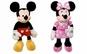 Set 2 jucarii interactive din plus Mickey Mouse si Minnie Mouse, functie muzicala, 30 cm