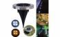 Set 4 lampi solare Metal Disk Lights, argintiu, fara fir, pentru exterior.