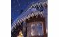 Instalatie pentru exterior, alba, 9 metri, franjuri cu Led-uri + Cadou o instalatie brad 100 LED-uri, multicolor