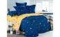 "Lenjerie de pat 4 piese din Bumbac Satinat ""STARS"" - Cearsaf pat - 250 X 230 cm (1 bucata) - Cearsaf pilota - 230 X 200 cm (1 bucata) - Fete de perna - 70 X 50 cm (2 bucati)"