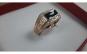 Inel Barbati Luxury Onyx Brilliant,dublu placat aur 18K