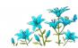 Sticker decorativ, Crin albastru, 150