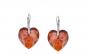 Cercei Heart Leverback Mini Red Magma