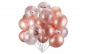 Set 12  baloane cu confetti, culoare roz