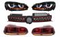 Grila Centrala compatibil cu VW Golf 6 VI (2008-2012) Golf 7 U Design With Red Strip GTI LED dinamic cu Stopuri R20 si Faruri LED
