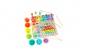 Joc Montessori 5 in 1 Logarithmic Plate Beads, din lemn