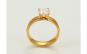 Inel inox placat aur 24K,cristal zirconi