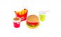 Alimente din plastic pentru joaca Hamburger, cartofi prajiti, suc si sos