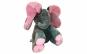 "Elefant interactiv gri cu roz 30 cm, functie ""peek-a-boo"" isi acopera ochii cu urechile si functie muzicala"