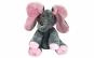 Elefant interactiv gri cu roz, 30 cm