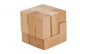 Joc logic IQ Cub din lemn   varianta 2