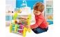 Jucarie educativa Montessori 3 in 1, abac si labirint, lemn vopsit cu lacuri non-toxice, finisaje de calitate