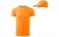 Tricou barbati tangerine orange 100% bumbac + sapca