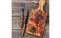 Set furculite BBQ - 6 piese - maner lemn