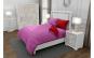 Lenjerie de pat matrimonial cu 4 huse perna dreptunghiulara si mix culori, Duo Pink, bumbac satinat, gramaj tesatura 120 g mp, Roz Rosu, 6 piese
