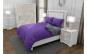 Lenjerie de pat matrimonial cu 4 huse perna cu mix dimensiuni, Duo Purple, bumbac satinat, gramaj tesatura 120 g mp, Mov Gri, 6 piese