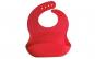 Bavetica flexibila din silicon pentru bebelusi, baveta bebe din cauciuc moale, usor de curatat, antimurdarire, cu buzunar colector larg, inchidere ajustabila, Quasar&Co., rosu