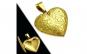 Pandant inox auriu inimioara (se deschide) PSL1492