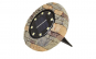 Set 4 lampi solare Disk Lights, 6500k, model piatra