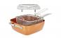 Tigaie patrata, 25x25 cm red copper cu gratar pentru abur si cos friteuza Pro