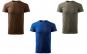 Tricou barbati ciocolatiu, albastru regal, army - set 3, 100% bumbac