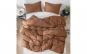 Pilota matlasata umpluta cu lana, pentru iarna, bumbac satinat, Maro, 140x210 cm