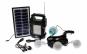 Kit Panou solar fotovoltaic, 4 becuri, incarcare telefon, radio, mp3