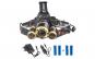 Lanterna Frontala de Cap cu ZOOM ElectroAZ™ , Aluminiu ,4 acumulatori 18650 inclusi (2 BONUS) cu 3 x T6 Led Cree , Rotire 90 g
