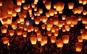 Set 10 lampioane multicolore zburatoare