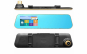 Oglinda retrovizoare auto DVR Touchscreen cu 2 camere (fata + spate), afisaj TFT 11cm, filmare HD, G Senzor, Unghi larg filmare, rama subtire