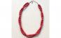 Colier elegant cu perle acrilice rosii,