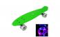 Penny board LED, verde