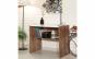 Birou Aras, Asos Home, alb-stejar, 90x72x51cm