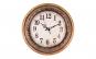 Ceas perete din pvc, 50 cm, Maro/Auriu