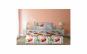 Lenjerie dubla Heinner Home, din bumbac, 4 piese, 144TC, model flori rosii